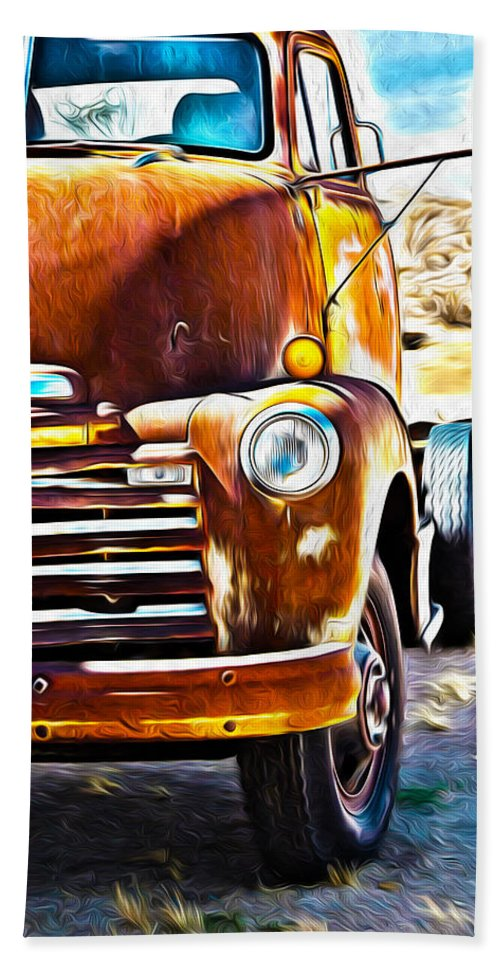 Truck Bath Sheet featuring the photograph From Tucson To Tucumcari by Joe Schofield
