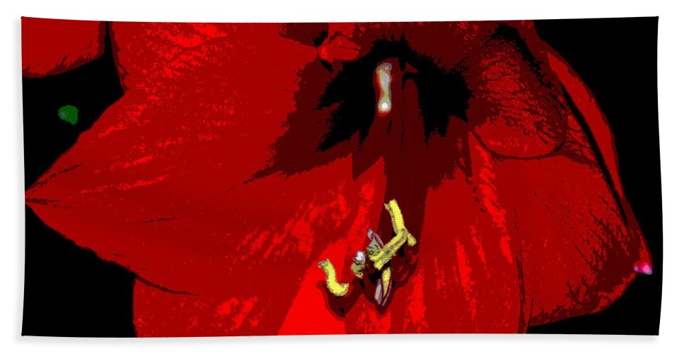 Red Hand Towel featuring the photograph Front And Center by Cindy Manero