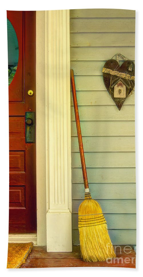 Broom Hand Towel featuring the photograph Front Porch by Margie Hurwich