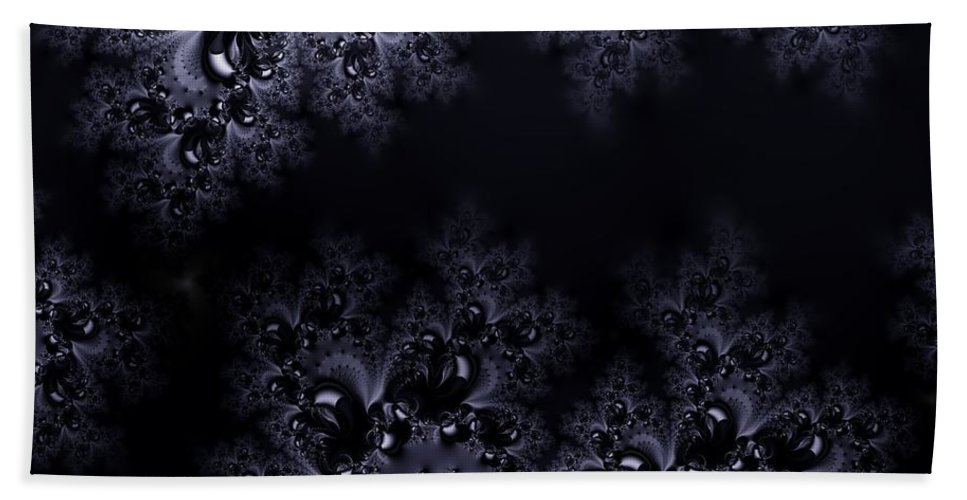 Moonlight Hand Towel featuring the digital art Frost In The Moonlight Fractal by Rose Santuci-Sofranko