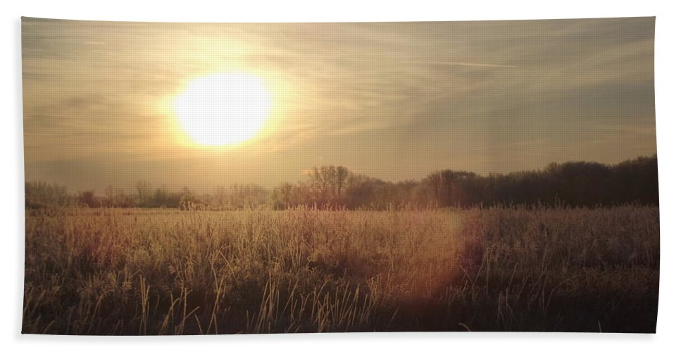 Frost Hand Towel featuring the photograph Frosty 2 by Bonfire Photography