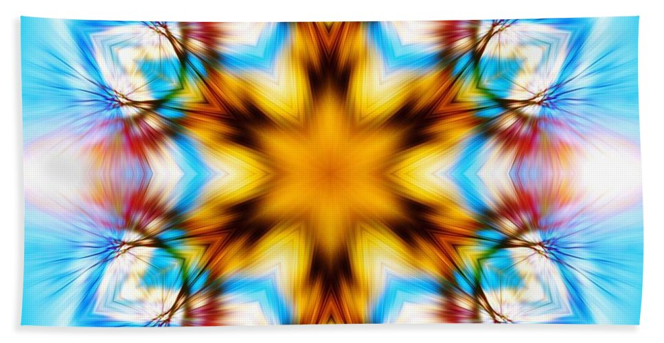 Sacredlife Mandalas Hand Towel featuring the photograph Frozen Clarity by Derek Gedney