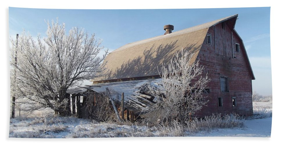 Frost Hand Towel featuring the photograph Frozen In Time by Bonfire Photography