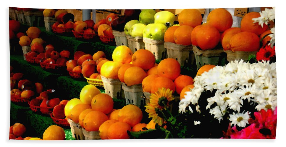 Fruit Hand Towel featuring the photograph Fruit Stand by Steve Karol
