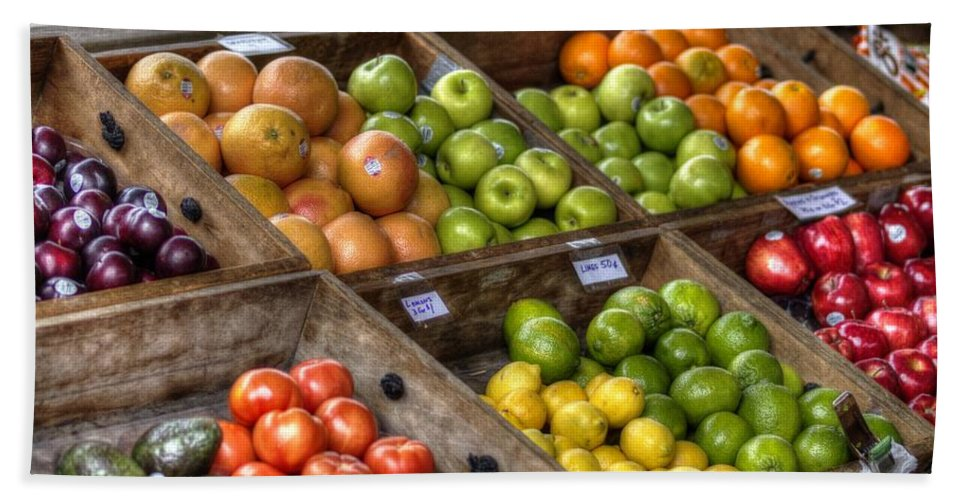 New Orleans Hand Towel featuring the photograph Fruit Stand by William Morgan