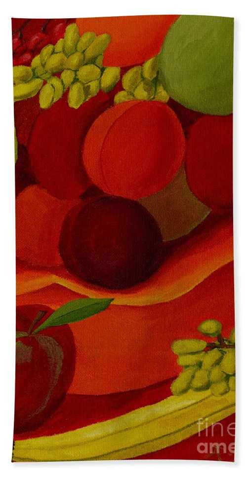 Fruit Bath Sheet featuring the painting Fruit-still Life by Anthony Dunphy