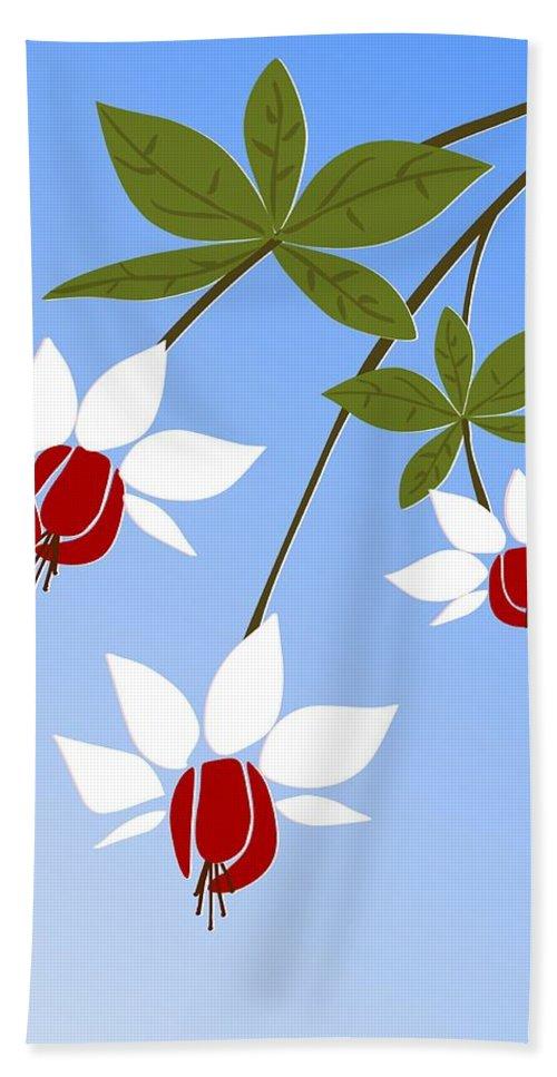 Fuchsia Bath Sheet featuring the digital art Fuchsia by Anastasiya Malakhova