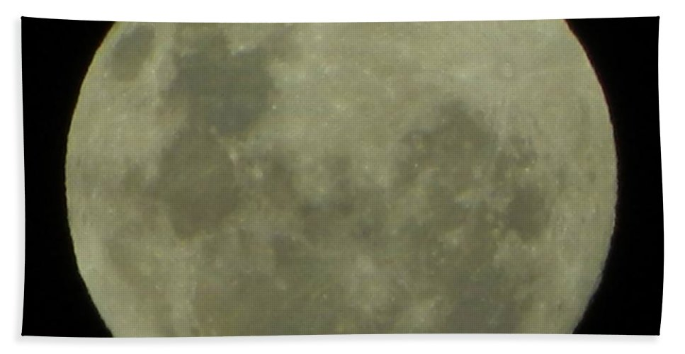 Nature Hand Towel featuring the photograph Full Moon 5 by Gallery Of Hope