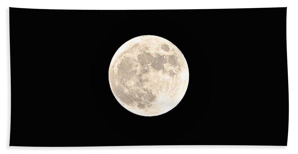 Moon Bath Sheet featuring the photograph Full Moon by Bridgette Gomes