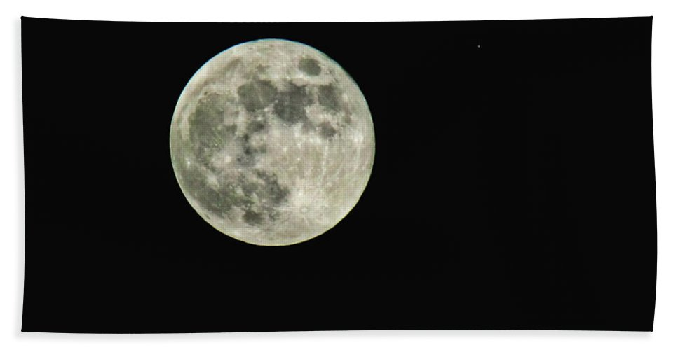 Nature Bath Sheet featuring the photograph Full Moon by Debbie Portwood