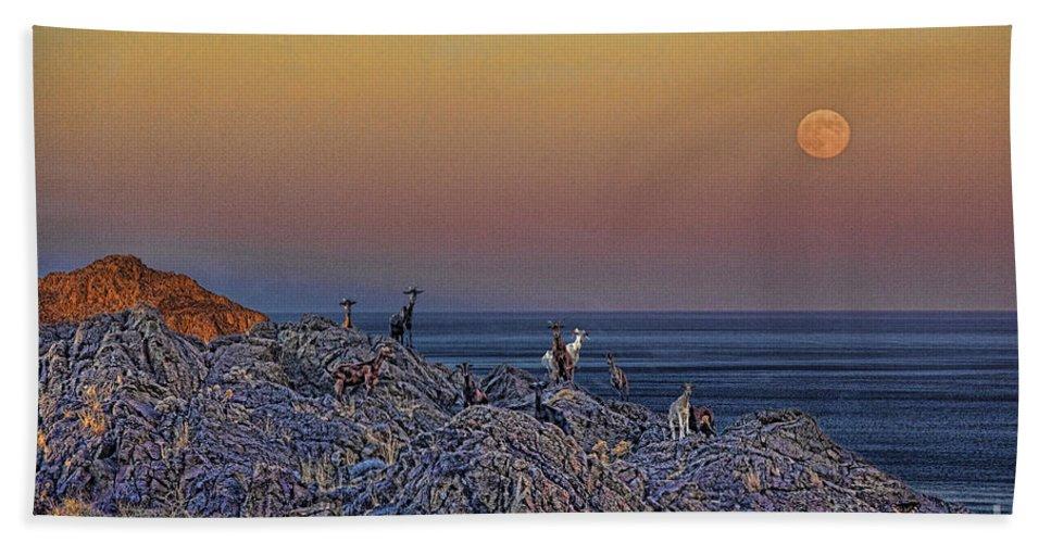 Crete Bath Sheet featuring the photograph Full Moon Gathering Of Capricorn by Casper Cammeraat