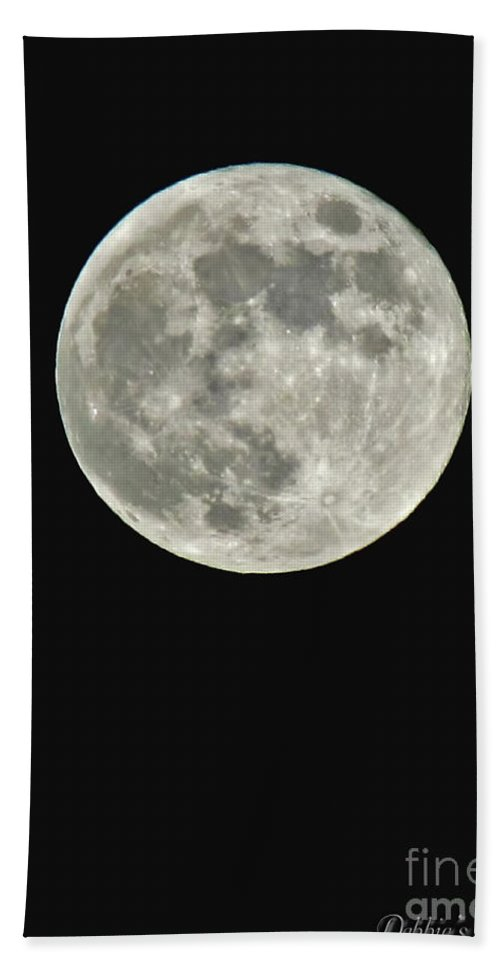 Nature Bath Sheet featuring the photograph Full Moon II by Debbie Portwood