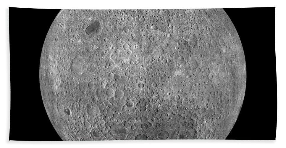 Moon Hand Towel featuring the photograph Full Moon by Jon Neidert