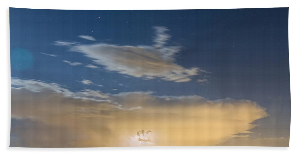 Storms Bath Sheet featuring the photograph Full Moon Light by James BO Insogna