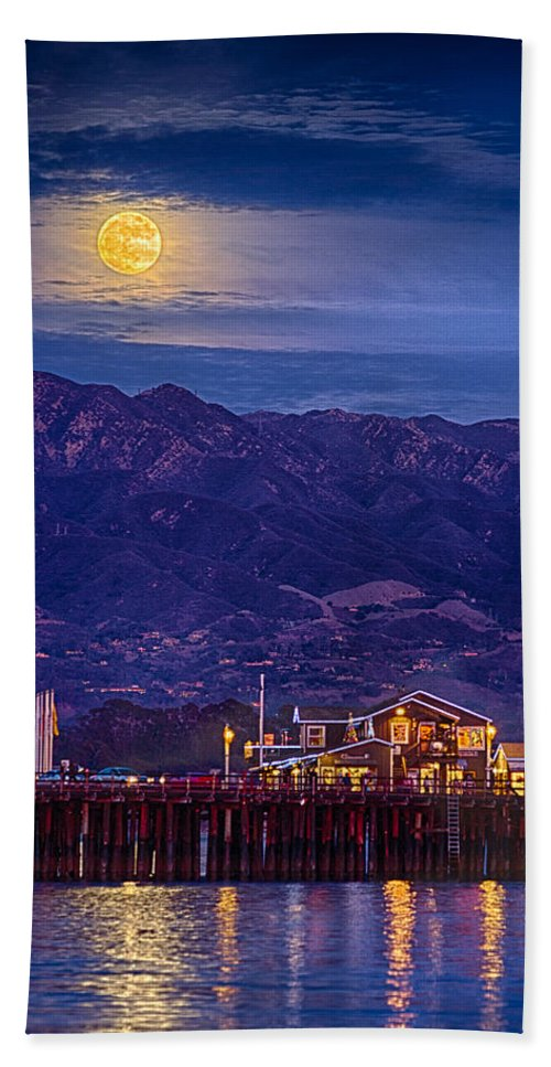 Full Moon Hand Towel featuring the photograph Full Moon Rising by Shauna Milton