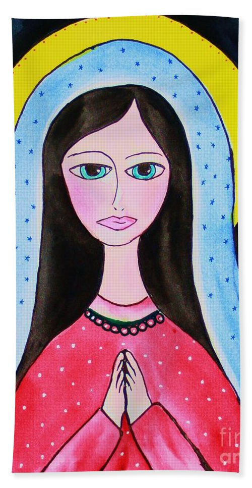 Mary Bath Sheet featuring the painting Full Of Grace by Melinda Etzold