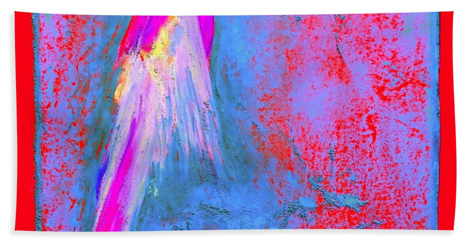 Art Bath Sheet featuring the painting Funky Rainbow Parrot Art Prints by Sue Jacobi