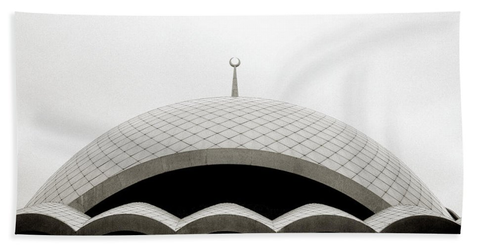 Religion Hand Towel featuring the photograph Futuristic Islamic Dome by Shaun Higson