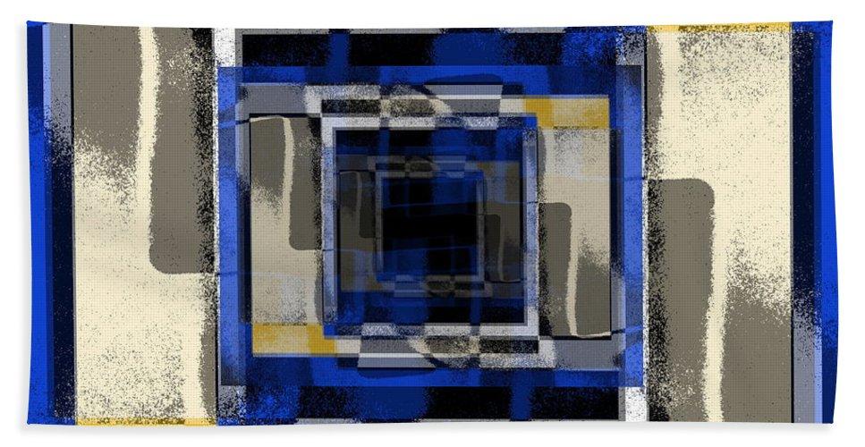 Abstract Bath Sheet featuring the digital art Fuzzy Logic 3 by Tim Allen