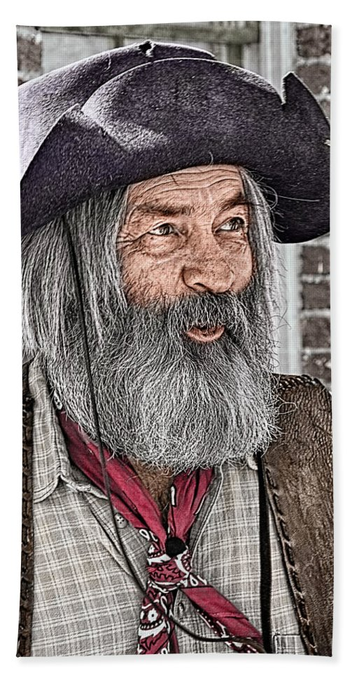 Gabby Hayes Hand Towel featuring the photograph Gabby Look Alike by Priscilla Burgers
