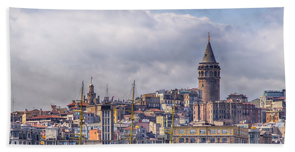 Istanbul Hand Towel featuring the photograph Galata Tower Istanbul by Sophie McAulay