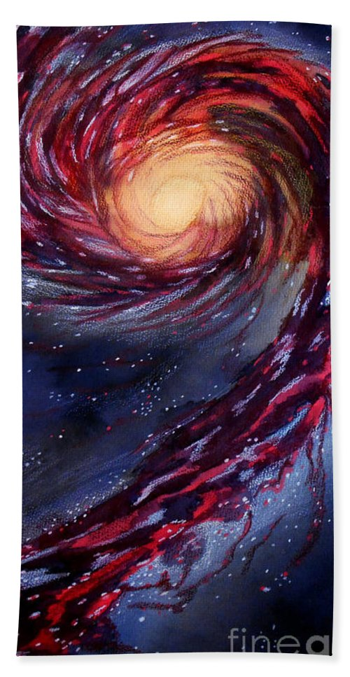 Galaxy Hand Towel featuring the painting Galaxy by Renee Boyett