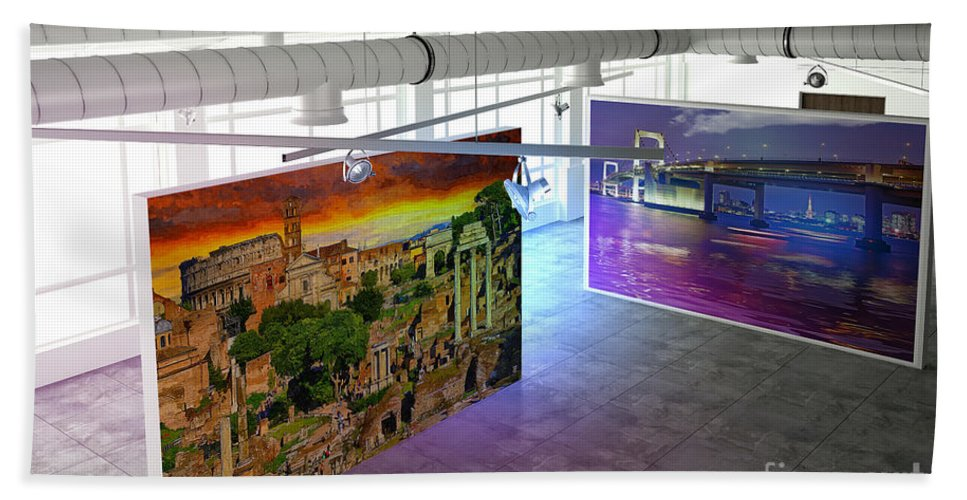Photo Art Bath Sheet featuring the photograph Gallery Top by Stefano Senise
