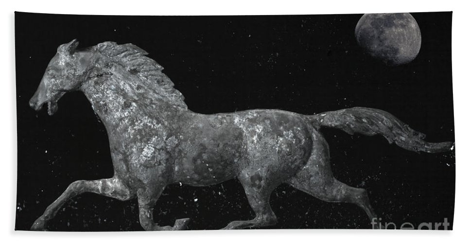 Weathervane Bath Sheet featuring the photograph Galloping Through The Universe by John Stephens