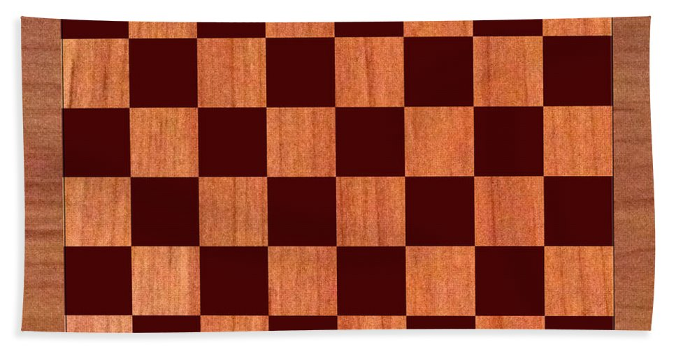 Order This Wood Grain Game Board As A Duvet Covers For Your King Bed Hand Towel featuring the photograph Game Board by Jack Pumphrey