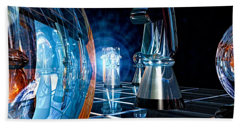Chess Bath Sheet featuring the photograph Game Transparent by Bob Orsillo