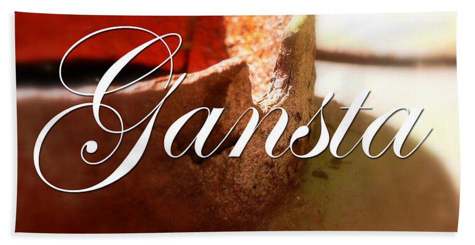 Gangsta Hand Towel featuring the digital art Gangsta by Marvin Blaine