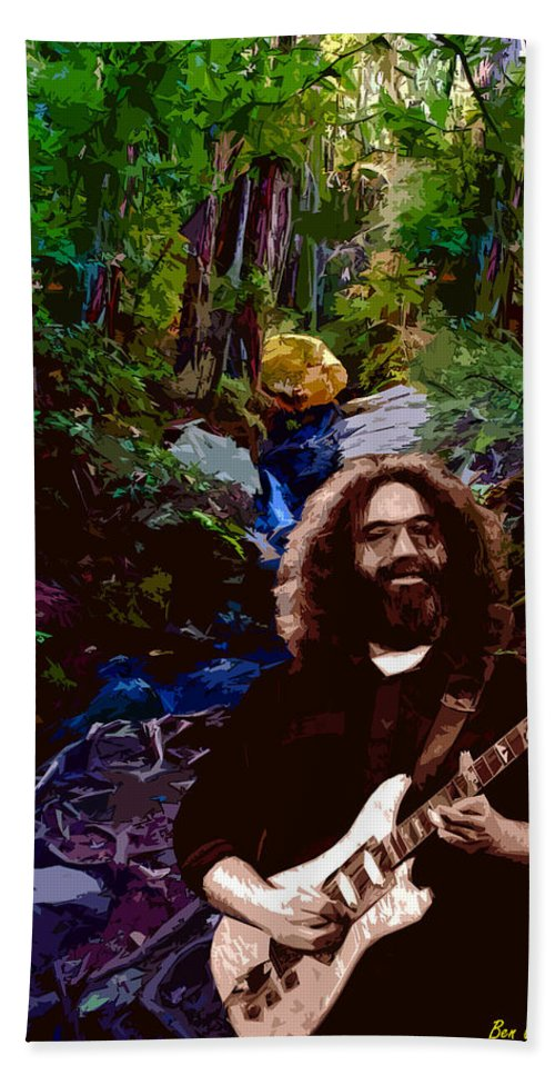 Jerry Garcia Bath Sheet featuring the photograph Garcia On Tam 3 by Ben Upham III