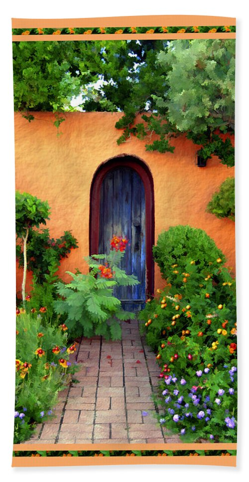 Garden Hand Towel featuring the photograph Garden Delights Mesilla by Kurt Van Wagner