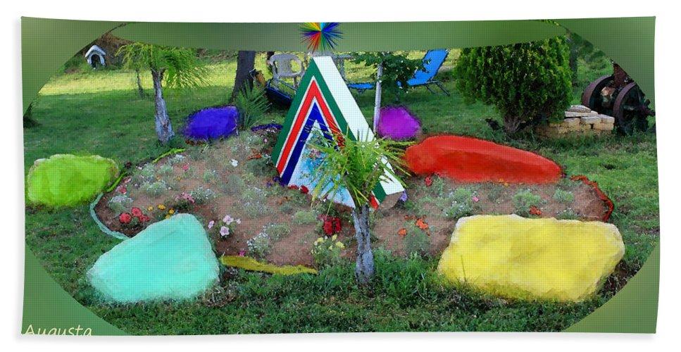 Augusta Stylianou Hand Towel featuring the digital art Garden Galaxy by Augusta Stylianou