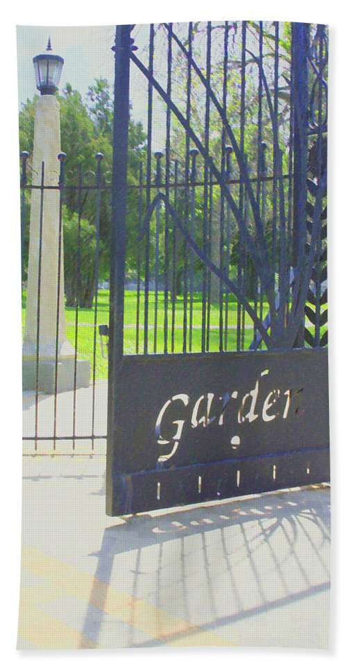 Gate Bath Sheet featuring the photograph Garden Gate by Andrea Lynch