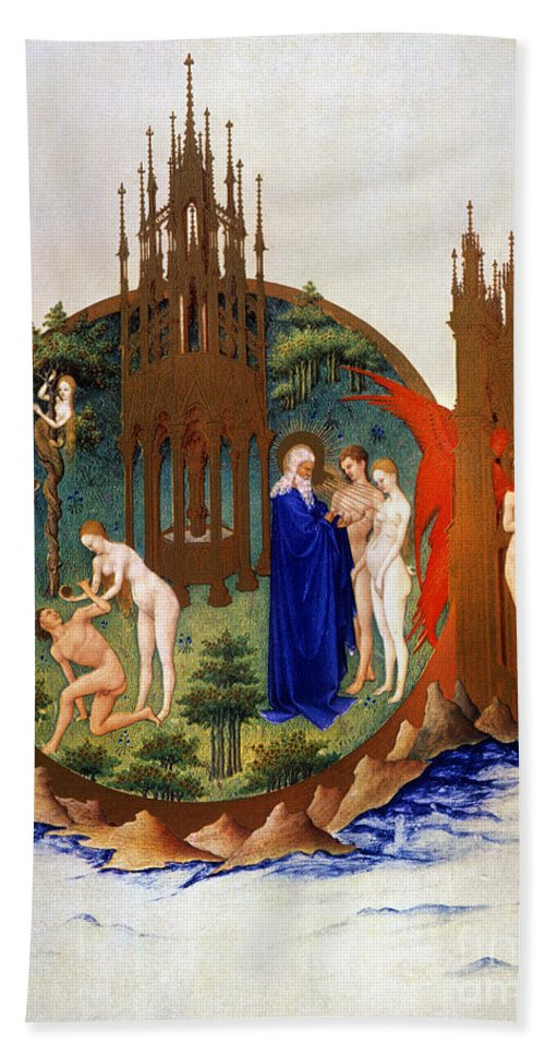 15th Century Hand Towel featuring the photograph Garden Of Eden: Adam & Eve by Granger