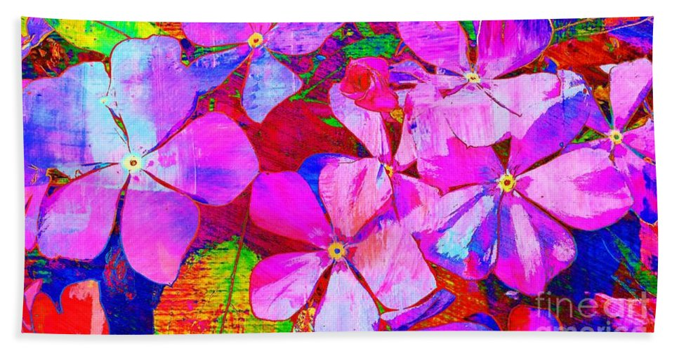 Flowers Hand Towel featuring the photograph Garden Of Hope 002 by Robert ONeil