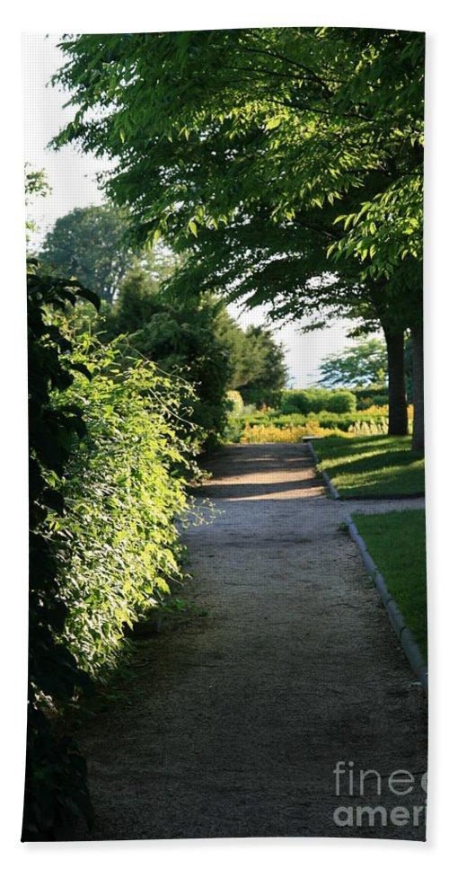 Gardens Bath Sheet featuring the photograph Garden Stroll by Neal Eslinger