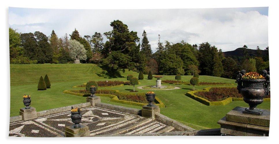 Garden Bath Sheet featuring the photograph Garden View - Powerscourt Garden by Christiane Schulze Art And Photography
