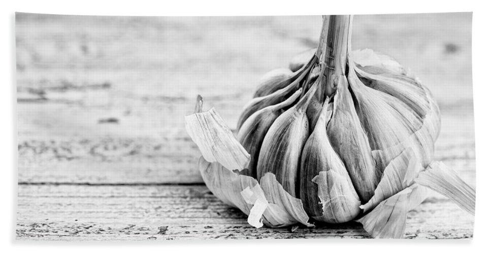 Garlic Bath Sheet featuring the photograph Garlic by Nailia Schwarz