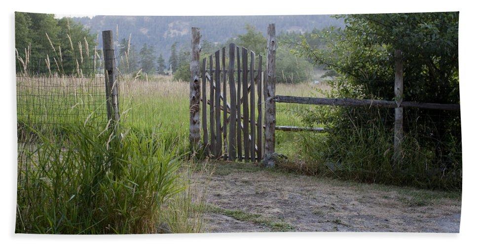 San Juan Islands Bath Sheet featuring the photograph Gate To Peaceful Paradise by Lorraine Devon Wilke