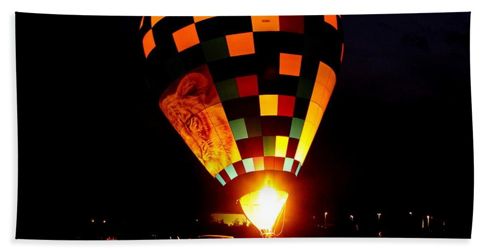 Balloon Bath Sheet featuring the photograph Gathering For Night Glow by Robert Frederick