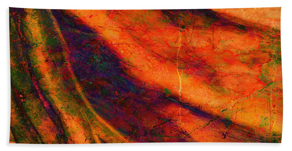 Abstract Hand Towel featuring the photograph Gathering by Meghan at FireBonnet Art