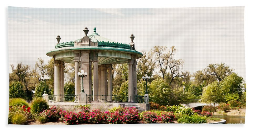 St Louis Bath Sheet featuring the photograph Gazebo At Forest Park St Louis Mo by Pam Holdsworth