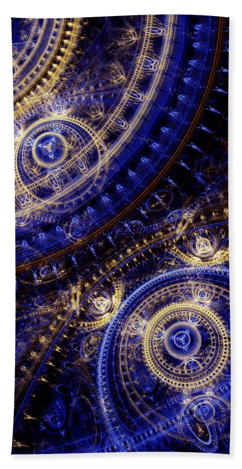 Doctor Who Bath Sheet featuring the digital art Gears Of Time by Martin Capek