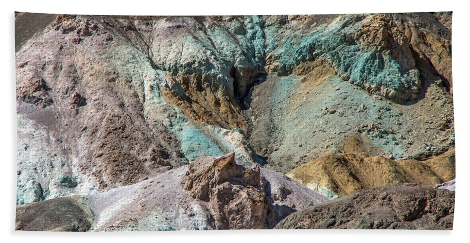 Turquoise Bath Sheet featuring the photograph Gem Stones by Stephen Whalen
