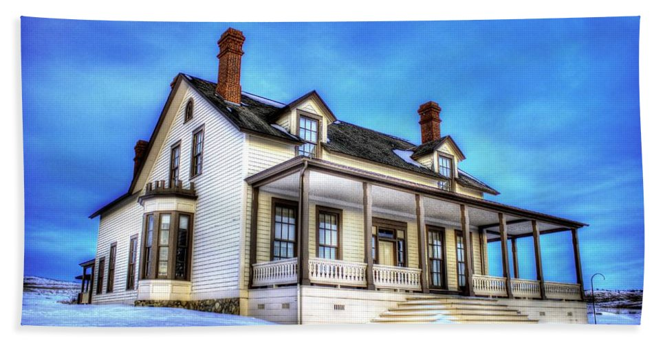Lieutenant Hand Towel featuring the photograph General Custer House by Chad Rowe