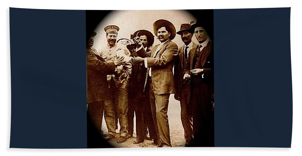 General Fierro With Chicken And Villa Unknown Location Or Date-2013 Bath Sheet featuring the photograph General Fierro With Chicken And Villa Unknown Location Or Date-2013 by David Lee Guss