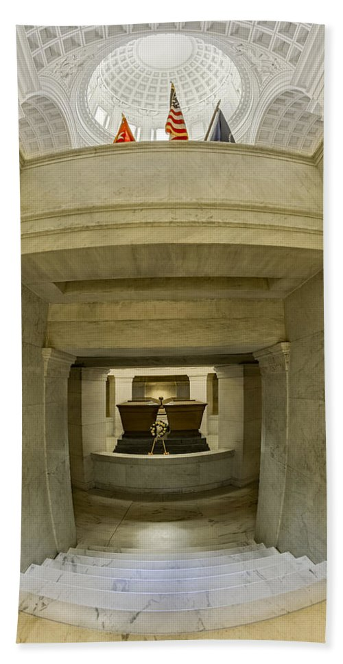 America Bath Sheet featuring the photograph General Grant National Memorial by Susan Candelario