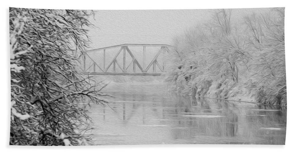 Genesee River Hand Towel featuring the photograph Genesee River by Tracy Winter